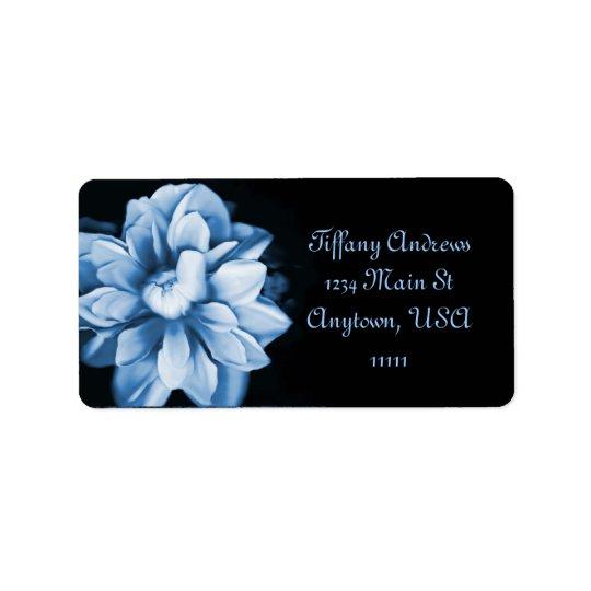 Sapphire Bloom Address Label