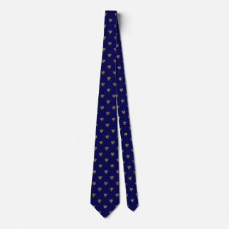 Sapphire Blue-and-Gold Tie