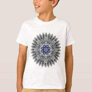 Sapphire Blue and White Diamond Star Mandala T-Shirt