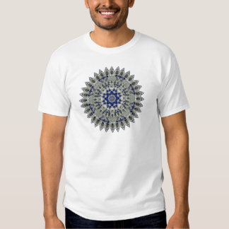 Sapphire Blue and White Diamond Star Mandala Tshirts