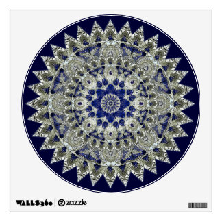 Sapphire Blue and White Diamond Star Mandala Wall Sticker