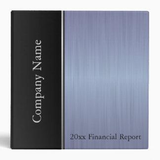 Sapphire Blue Brush Steel Company Style Vinyl Binder