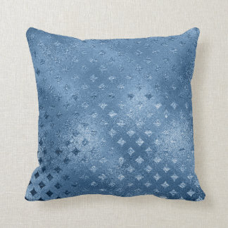 Sapphire Blue Celestial Diamond Cut Blue Glass Throw Pillow