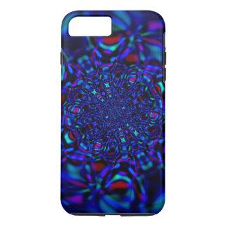Sapphire Blue Fractal Gem iPhone 7 Plus Case