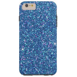 Sapphire Blue Glitter Effect Sparkle Tough iPhone 6 Plus Case