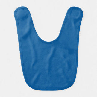 Sapphire Blue Personalized Dark Color Background Bibs