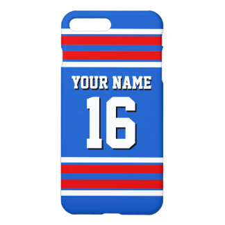 Sapphire Blue Red White Team Jersey Sports Jersey iPhone 7 Plus Case