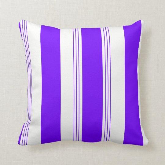Sapphire Blue Reversible Stripe/Solid Pillow