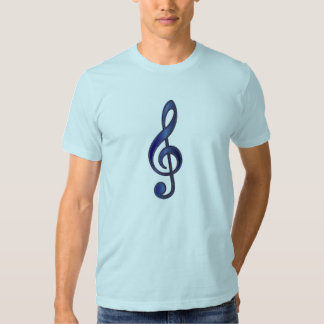 """Sapphire"" Blue Treble Clef T-shirt"