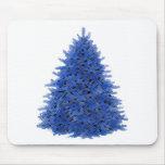 Sapphire blue tree mousepads
