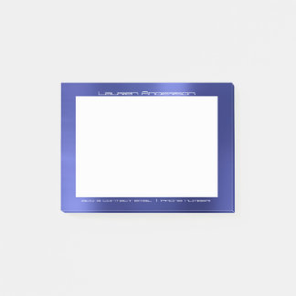 Sapphire Cobalt Blue Office Business Personalized Post-it® Notes