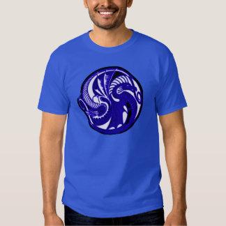 Sapphire Dragon Shield Symbol Tee Shirt
