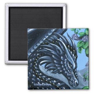 Sapphire Dragon Square Magnet