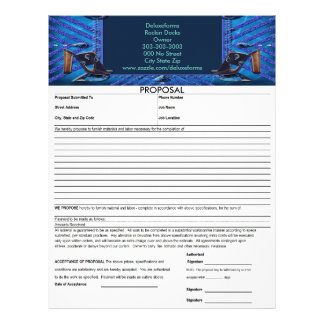 Sapphire Gems Shoes Proposal Letterhead Template