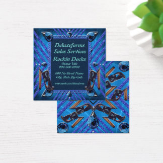 Sapphire Gems Shoes Square Business Card