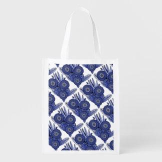 Sapphire Gerbera Daisy Flower Bouquet Reusable Grocery Bag