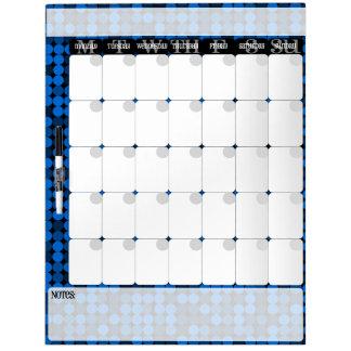 Sapphire Glam - Dry Erase Calendar Board