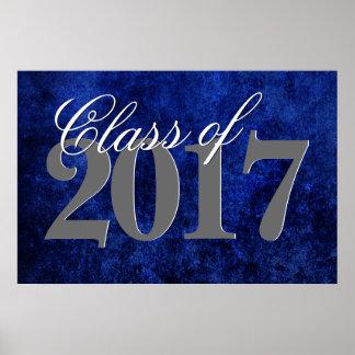Sapphire Grad Cobalt Royal Azure Blue Party Theme Poster