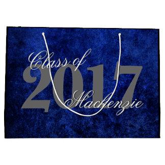 Sapphire Graduate Azure Cobalt Royal Blue Grad Large Gift Bag