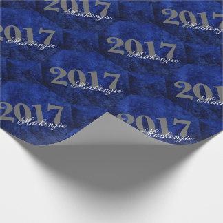 Sapphire Graduate Azure Cobalt Royal Blue Grad Wrapping Paper