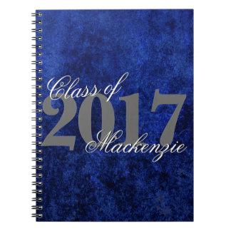 Sapphire Graduate Royal Cobalt Azure Blue Keepsake Spiral Notebook
