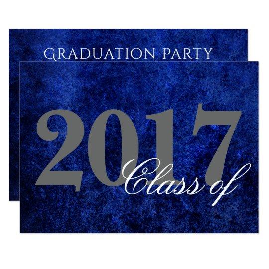 Sapphire Graduation Royal Cobalt Blue Party Theme Card