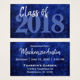 Sapphire Graduation Year   Royal Blue Announcement Business Card