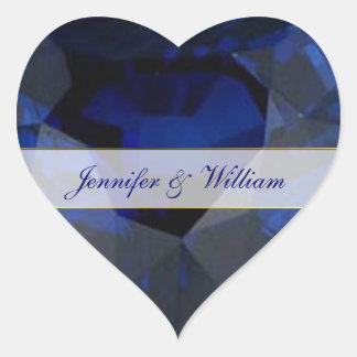 Sapphire Heart Custom Wedding Sticker