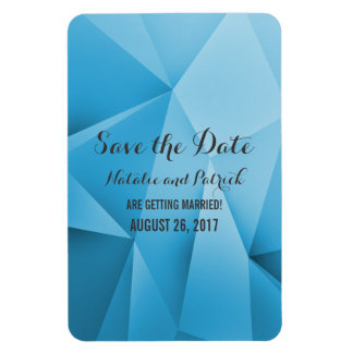 Sapphire Jewel Tones Save the Date Flexi Magnet