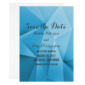 Sapphire Jewel Tones Save the Date Invite
