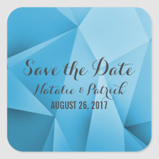 Sapphire Jewel Tones Save the Date Stickers