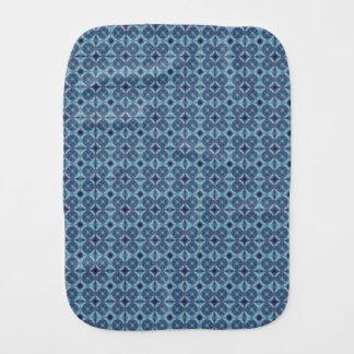 Sapphire Kaleidoscope Pattern Burp Cloth
