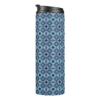 Sapphire Kaleidoscope Pattern Thermal Tumbler