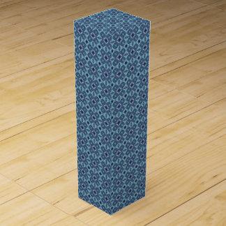 Sapphire Kaleidoscope Pattern Wine Gift Box