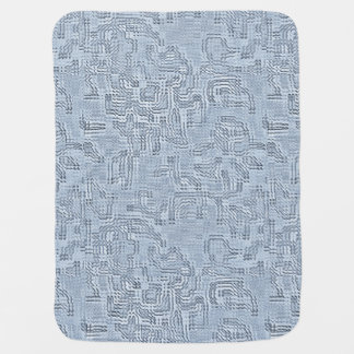 Sapphire Leaf Swaddle Blankets