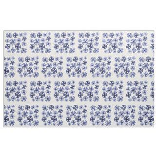 Sapphire Lucky Shamrock Clover Fabric