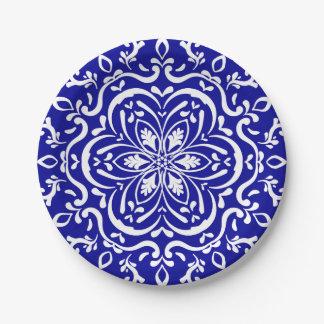 Sapphire Mandala 7 Inch Paper Plate