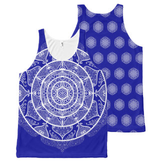 Sapphire Mandala All-Over-Print Tank Top