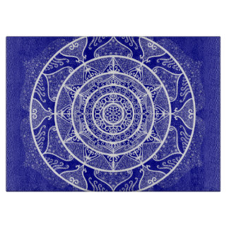 Sapphire Mandala Cutting Board