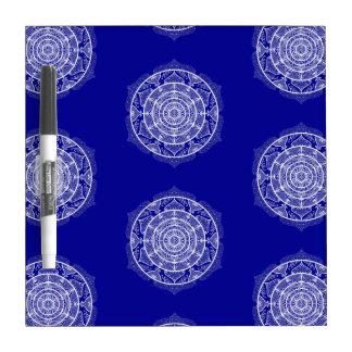 Sapphire Mandala Dry Erase Board