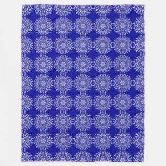 Sapphire Mandala Fleece Blanket