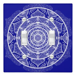 Sapphire Mandala Light Switch Cover
