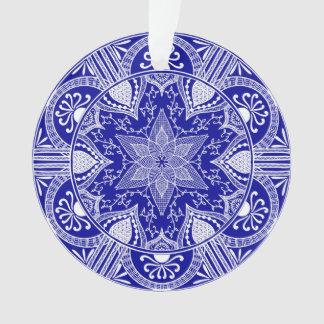Sapphire Mandala Ornament