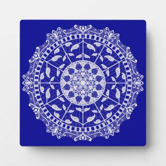 Sapphire Mandala Plaque