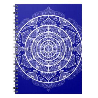 Sapphire Mandala Spiral Notebook