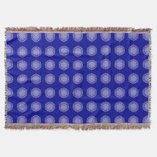 Sapphire Mandala Throw Blanket