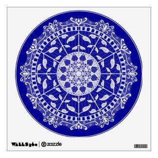 Sapphire Mandala Wall Decal