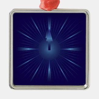 sapphire minute Silver-Colored square ornament