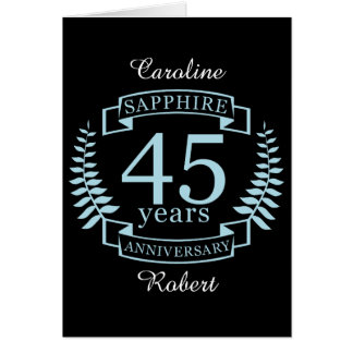 Sapphire Traditional 45th wedding anniversary Card