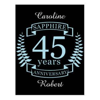 Sapphire Traditional 45th wedding anniversary Postcard